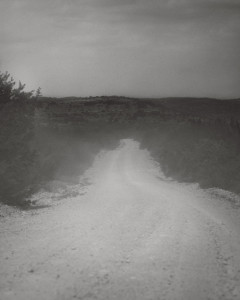 Dust Dirt Road Leading to the Devil's River State Park, TX