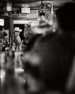 Man in Doorway, Ginny's Little Longhorn Saloon, Austin, Texas