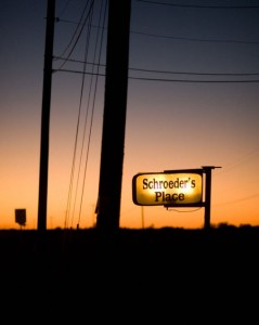 Road Sign at Schroeders Place, Thorndale, Texas