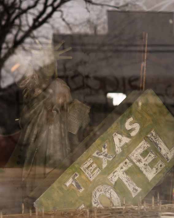 Texas Motel Sign in Window